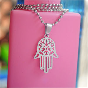 Jewelry - Silver Hamsa Hand Necklace